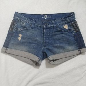 7 for all Mankind ▪ Jean Shorts Hardware Details
